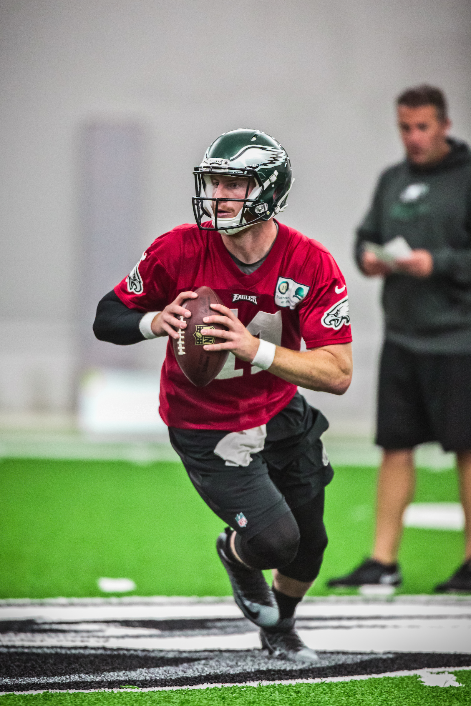 Carson Wentz And Receivers Looking Impressive